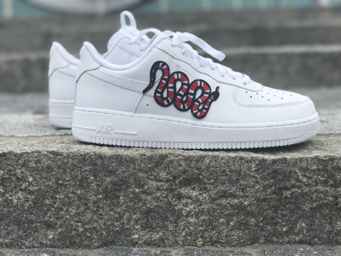 online store 26f24 26ce4 Nike AF1 Gucci Snake