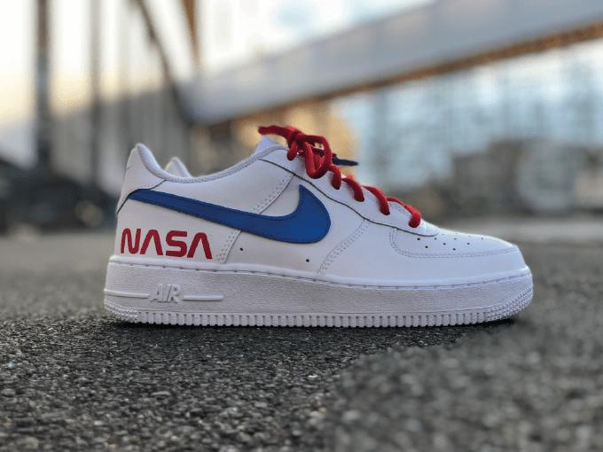 Nike AF1 Nasa Remove Before Flight